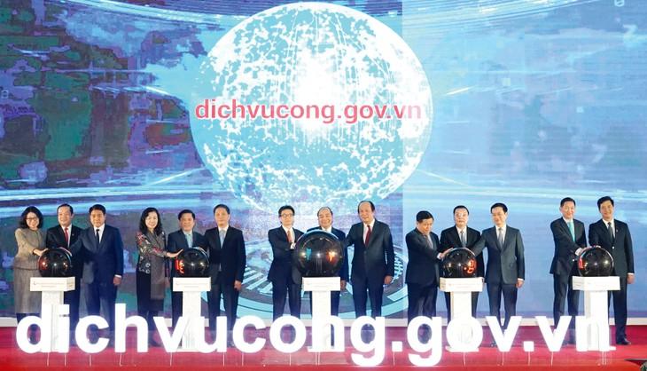 Theo báo cáo khảo sát của Liên hợp quốc công bố tháng 7/2020, xếp hạng chỉ số phát triển Chính phủ điện tử chung của Việt Nam tăng 2 bậc. Ảnh: Hiếu Nguyễn