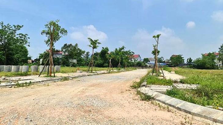 Khu đất Dự án Khu dân cư Tấn Đức JSC (Thái Nguyên) đã được san lấp, xây dựng hạ tầng kỹ thuật. Ảnh: St