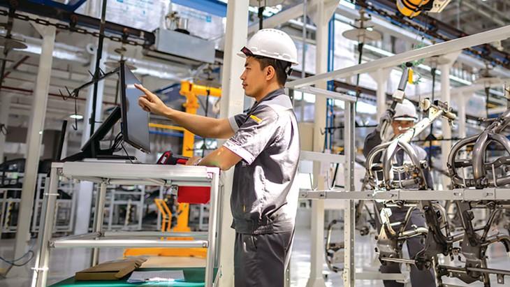 Hàng năm có khoảng 30 - 50% doanh nghiệp Việt Nam có hoạt động đổi mới sáng tạo, đạt mục tiêu Nghị quyết 35/NQ-CP đã đề ra. Ảnh: Lê Tiên