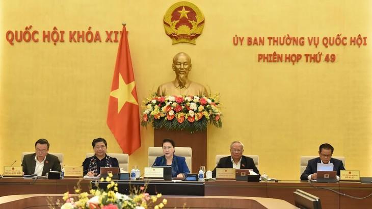 Phiên họp thứ 49 của Ủy ban Thường vụ Quốc hội đã hoàn thành chương trình đề ra. Ảnh: Vũ Quang Khánh