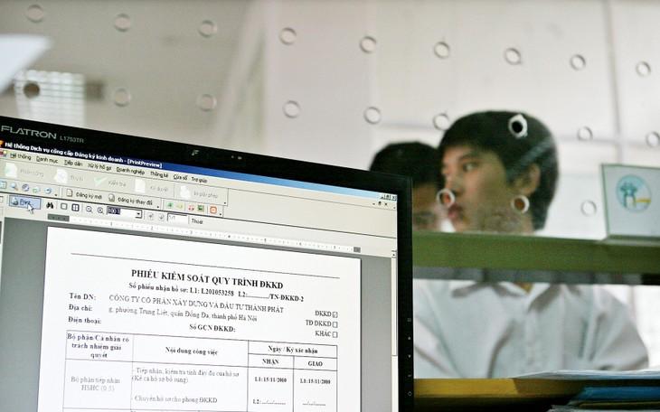 Cơ quan đăng ký kinh doanh là đầu mối tiếp nhận hồ sơ và trả kết quả giải quyết thủ tục đăng ký thành lập doanh nghiệp. Ảnh: Tường Lâm