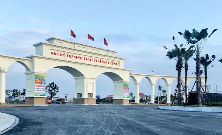 Dự án Khu đô thị sinh thái Thành Công, huyện Kinh Môn (giai đoạn 1) có diện tích 35,92 ha, tổng vốn đầu tư 546,320 tỷ đồng. Ảnh: Thanh Hương