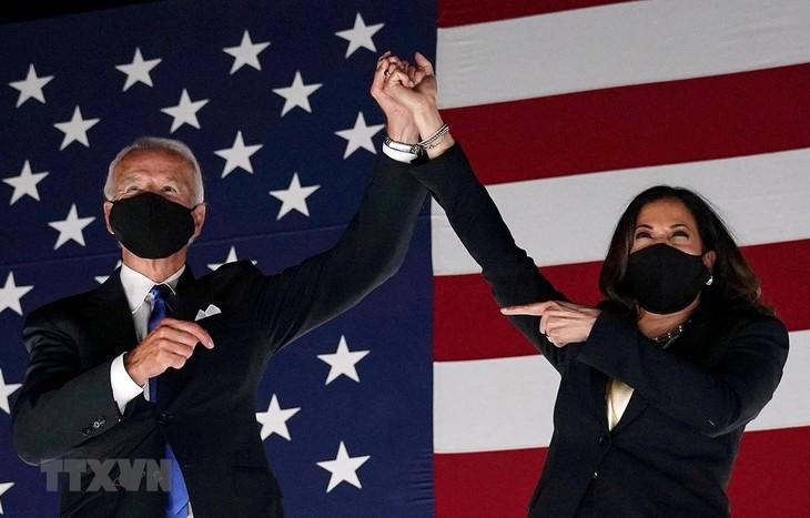 Ông Joe Biden và bà Kamala Harris đã đắc cử Tổng thống và Phó Tổng thống Mỹ. (Ảnh: AFP/TTXVN)