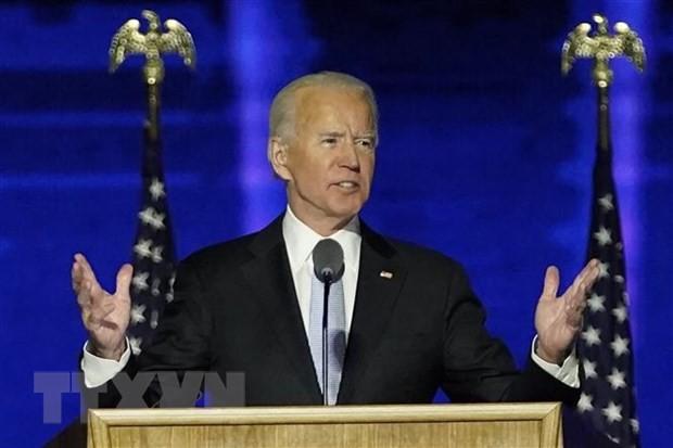 Ông Joe Biden trong bài phát biểu tại Wilmington, bang Delaware ngày 7/11/2020. (Ảnh: AFP/TTXVN)