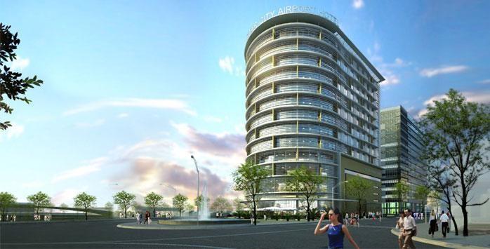Theo thiết kế, khách sạn StarCity Airport gồm tòa nhà 13 tầng, tổng diện tích sàn xây dựng 17.667,6 m2 với 215 phòng