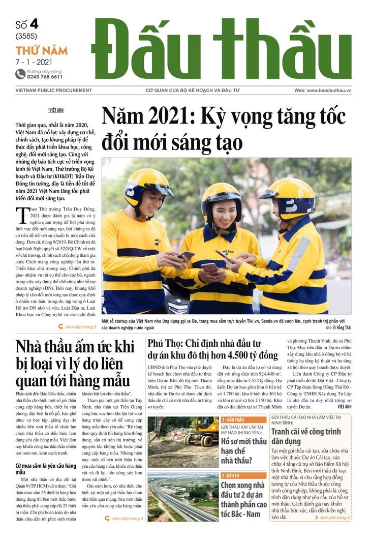 Báo Đấu thầu số 4 ra ngày 7/1/2021