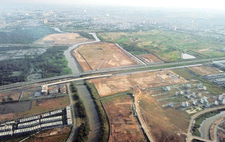 TP.HCM chuẩn bị đấu giá quyền sử dụng nhiều khu đất, trong đó có 18 lô đất (17,8 ha) tại Khu đô thị mới Thủ Thiêm. Ảnh: Lê Tiên