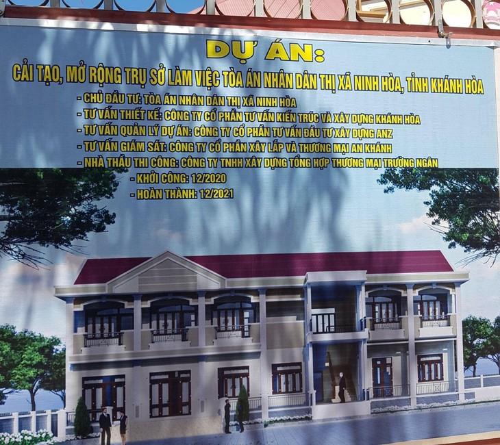 Gói thầu của Tòa án nhân dân thị xã Ninh Hòa: Thi công 3 tháng vẫn chưa công bố kết quả