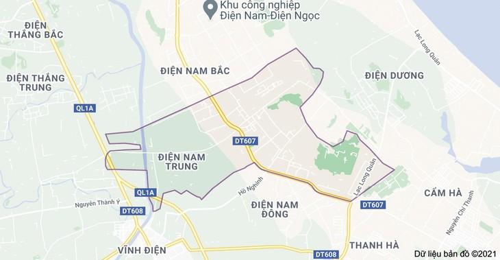 Dự án Khu đô thị phía Đông đường Trần Thủ Độ - Evergreen (thị xã Điện Bàn, tỉnh Quảng Nam) có quy mô gần 50 ha. Ảnh: Quốc Học