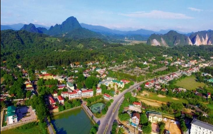 Khu đô thị mới Cây Chanh tại xã Đỉnh Sơn, huyện Anh Sơn có tổng diện tích 91.401,78m2, trong đó quy hoạch diện tích đất xây dựng nhà ở gồm 387 lô. Ảnh: Lệ Chi