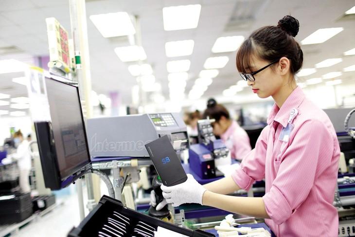 Năm 2020, trong bối cảnh kinh tế thế giới bị tác động mạnh bởi Covid-19, phần lớn doanh nghiệp FDI tại Việt Nam vẫn duy trì được hoạt động sản xuất, xuất khẩu. Ảnh: Lê Tiên