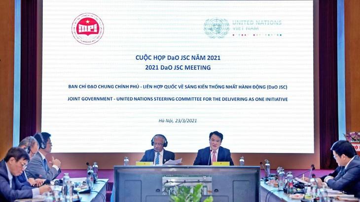Cuộc họp Ban chỉ đạo chung Chính phủ - Liên hợp quốc về sáng kiến thống nhất hành động (DaO JSC). Ảnh: Trương Gia