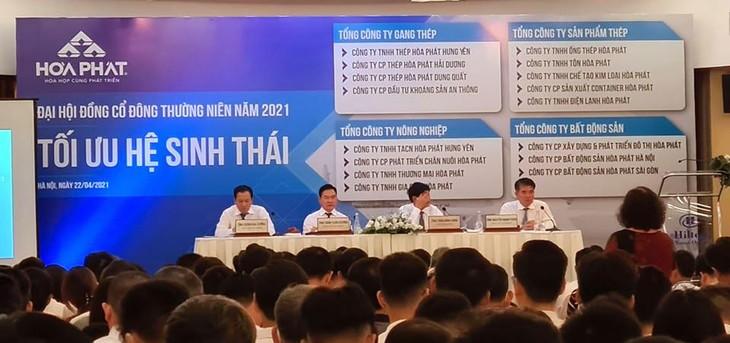 Ngày 22/4, Công ty CP Tập đoàn Hòa Phát đã tổ chức đại hội cổ đông thường niên năm 2021.
