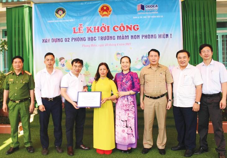 Tập đoàn Đèo Cả ủng hộ xây dựng phòng học Trường Mầm non Phong Hiền 1 tại Huế