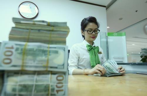 Tại các ngân hàng thương mại, sáng nay giá đồng USD tăng. Ảnh minh họa: TTXVN