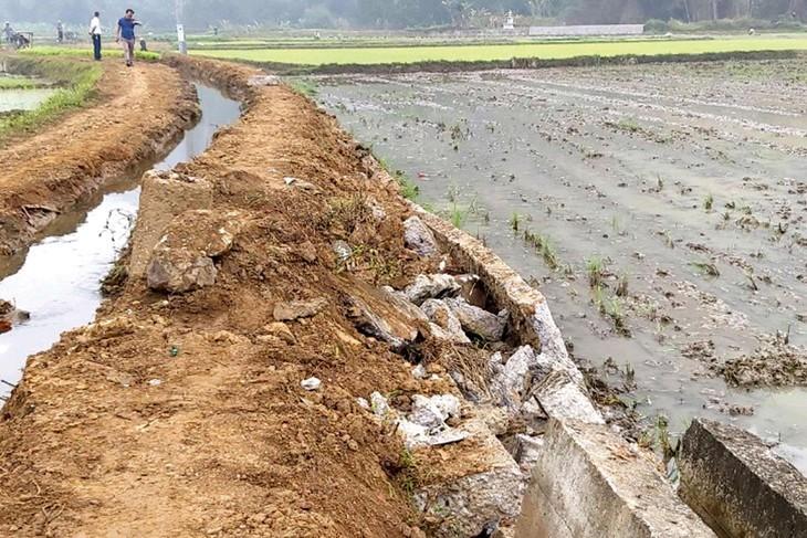 Khối lượng đất, đá tồn đọng tại phạm vi công trình kênh mương huyện Xuyên Mộc, tỉnh Bà Rịa - Vũng Tàu lên tới hơn 740.000 m3. Ảnh minh họa: ST