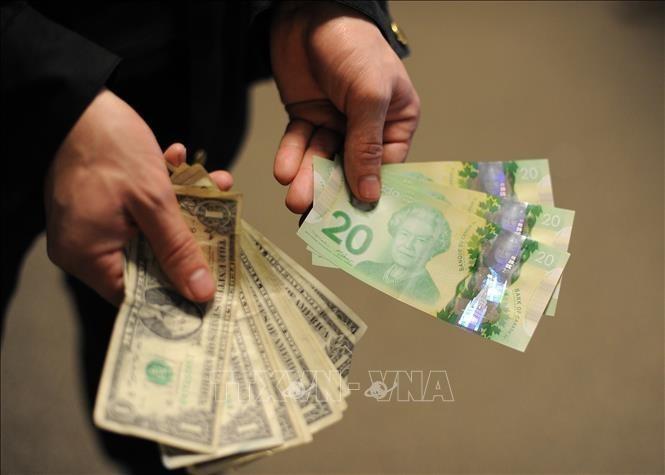 Tại các ngân hàng thương mại, sáng nay, giá đồng USD tiếp tục tăng. Ảnh: AFP/TTXVN