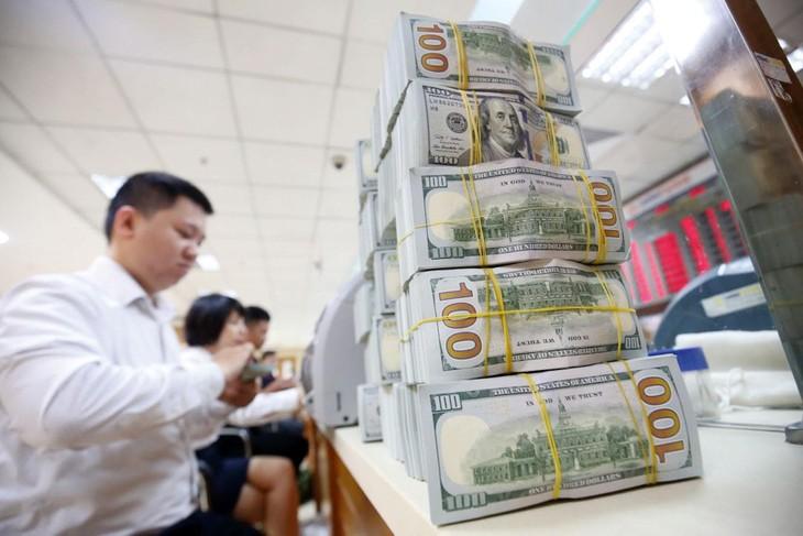 Hiện tỷ giá các ngân hàng thương mại được phép giao dịch là trong khoảng 22.414 - 23.800 VND/USD. Ảnh: Lê Tiên