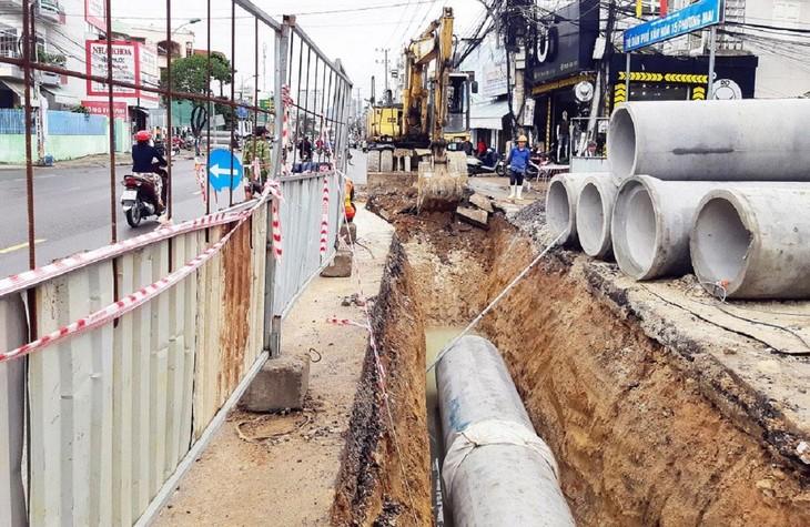 Theo cam kết, Dự án Môi trường bền vững các thành phố duyên hải - Tiểu dự án Nha Trang phải hoàn thành trước ngày 31/12/2022. Ảnh: Khánh Hòa
