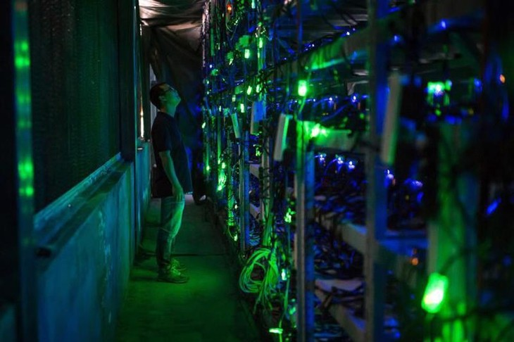 Một trung tâm khai thác Bitcoin tại Tứ Xuyên, Trung Quốc - Ảnh: Washington Post