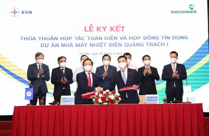Dự án Nhà máy Nhiệt điện Quảng Trạch I có tổng mức đầu tư 41.130 tỷ đồng, sử dụng nguồn vốn của EVN (30%) và vốn vay thương mại trong nước (70%) do Vietcombank tài trợ