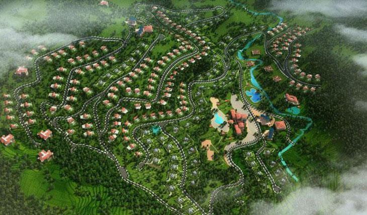 Dự án Khu đô thị sinh thái và vui chơi giải trí Viên Nam có tổng diện tích 65 ha tại xóm Đoàn Kết 1, xã Quang Tiến, TP. Hòa Bình, tỉnh Hòa Bình. Ảnh: NC st