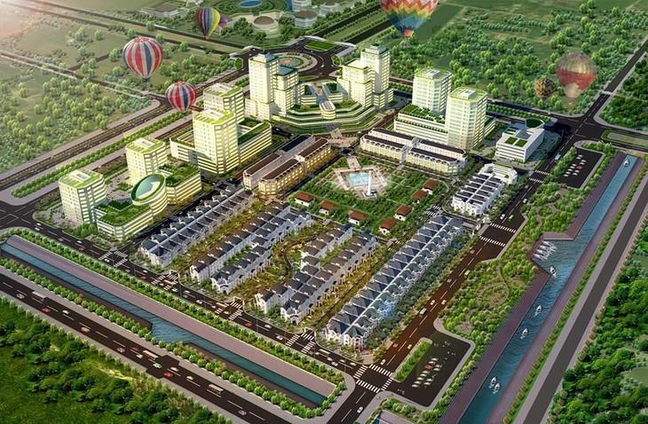 Dự án Khu công viên phần mềm, công nghệ thông tin tập trung tỉnh Thừa Thiên Huế thuộc Khu B - Đô thị mới An Vân Dương. Ảnh minh họa: Quang Huy