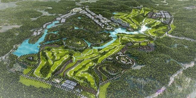 Khu đô thị Tam Nông có diện tích sử dụng đất dự kiến là 21,62 ha thuộc Khu đô thị sinh thái, du lịch nghỉ dưỡng và sân golf Tam Nông (Phú Thọ). Ảnh: NC st