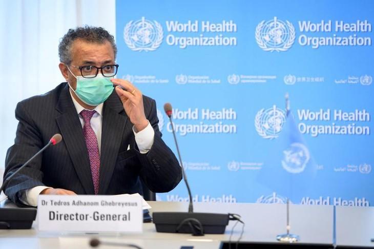 Tổng giám đốc WHO Tedros Adhanom Ghebreyesus tại một cuộc họp ở Geneva, Thuỵ Sỹ, tháng 5/2021 - Ảnh: Reuters.