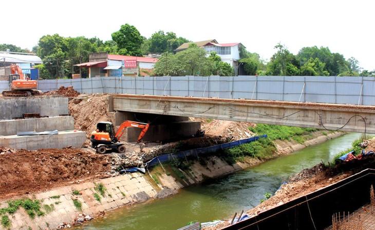 Dự án Phát triển tổng hợp đô thị động lực - TP. Thái Nguyên có tổng mức đầu tư 100 triệu USD, theo kế hoạch sẽ hoàn thành cuối năm 2023. Ảnh: Kim Oanh