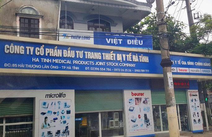 Công ty CP Trang thiết bị y tế Hà Tĩnh đã bán lô máy giặt, máy sấy cho các bệnh viện tại Hà Tĩnh với mức giá gấp 5 lần giá thị trường. Ảnh: H. Anh