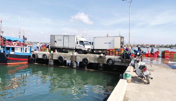 Công ty CP Xây dựng công trình thủy Hà Nội vừa trúng Gói thầu QB07 Nâng cấp và mở rộng cảng cá sông Gianh, huyện Bố Trạch, tỉnh Quảng Bình. Ảnh: Báo Quảng Bình