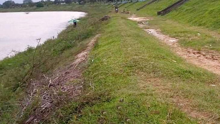 Gói thầu bị kiến nghị có nội dung bảo hiểm công trình kè chống lũ lụt, sạt lở các làng đồng bào dân tộc thiểu số dọc sông Đăk Bla trên địa bàn Kon Tum. Ảnh: Bùi Hoàn