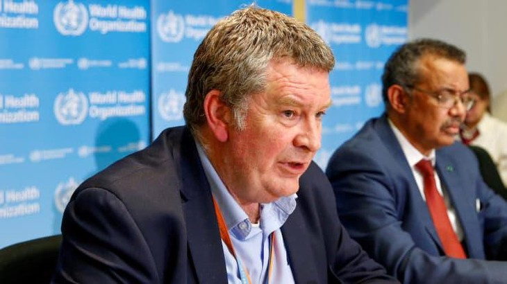 Tiến sỹ Mike Ryan, Giám đốc điều hành Chương trình Khẩn cấp y tế của WHO, trong một cuộc họp báo ở Geneva, Thuỵ Sỹ - Ảnh: Reuters.