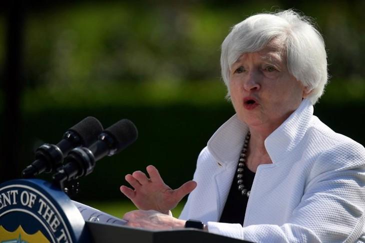 Bộ trưởng Bộ Tài chính Mỹ Janet Yellen đang lo ngại về nguy cơ hết tiền của Chính phủ nước này nếu trần nợ quốc gia không sớm được nâng - Ảnh: Reuters.