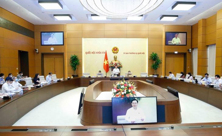 Chủ tịch Quốc hội Vương Đình Huệ chủ trì cuộc làm việc với Thường trực Ủy ban Kinh tế về quy hoạch sử dụng đất quốc gia giai đoạn 2021 - 2030