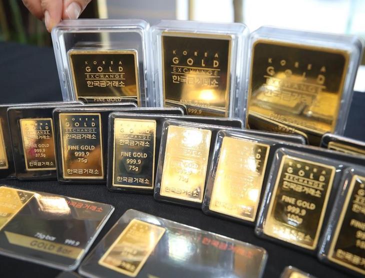 Giá vàng sáng 29/9 giảm 50 nghìn đồng/lượng. Ảnh: TTXVN phát