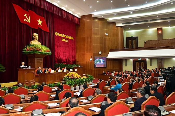 Hội nghị Trung ương lần thứ 13 khai mạc sáng 14/12 tại Hà Nội - Ảnh: VGP/Nhật Bắc