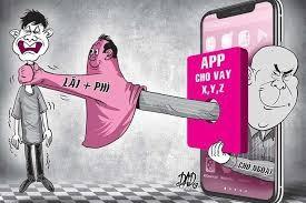 Nhiều app cho vay biến tướng, trở thành một dạng của tín dụng đen. Ảnh: Internet