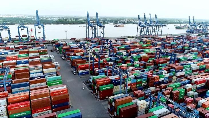 Nguyên nhân của tình trạng ùn ứ tại cảng Cát Lái là do tác động của dịch Covid-19. Ảnh: Internet