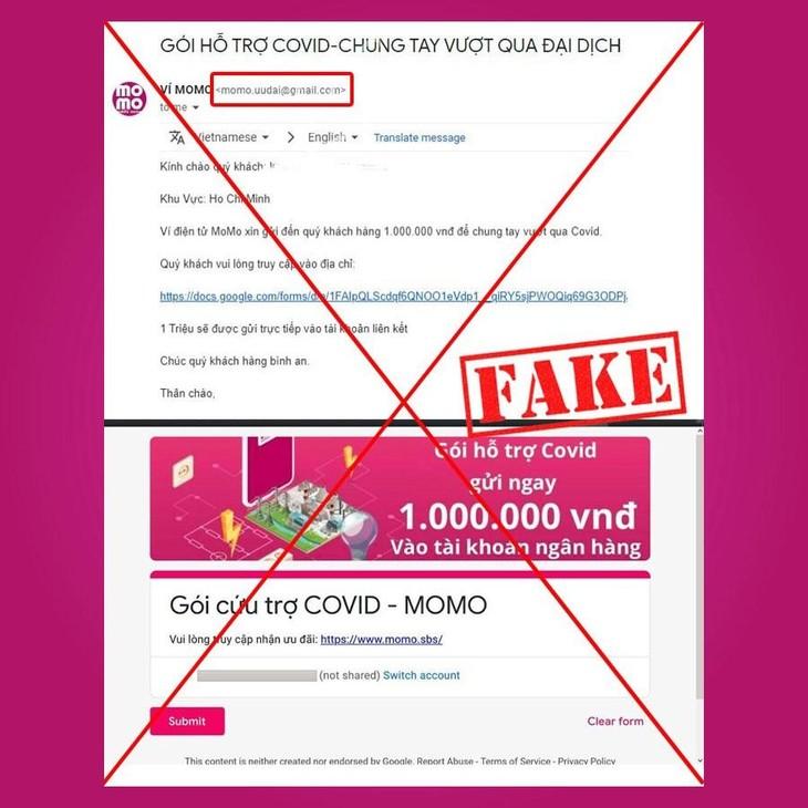 Ví MoMo cảnh báo người dùng nâng cao cảnh giác, bảo vệ tài khoản cá nhân.