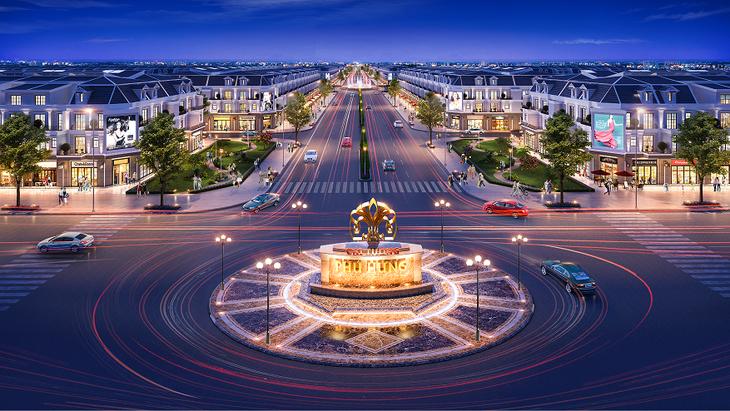 Đại lộ Khải Hoàn nằm trong khu đô thị phức hợp – cảnh quan Cát Tường Phú Hưng