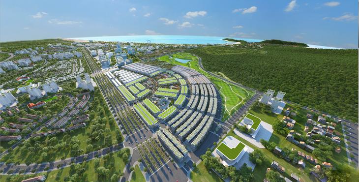 Phối cảnh tổng thể dự án Kỳ Co Gateway của Tập đoàn Danh Khôi phát triển.
