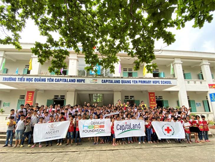 Hoạt động chăm sóc sức khỏe phòng chống Covid-19 tại Trường tiểu học Quảng Yên