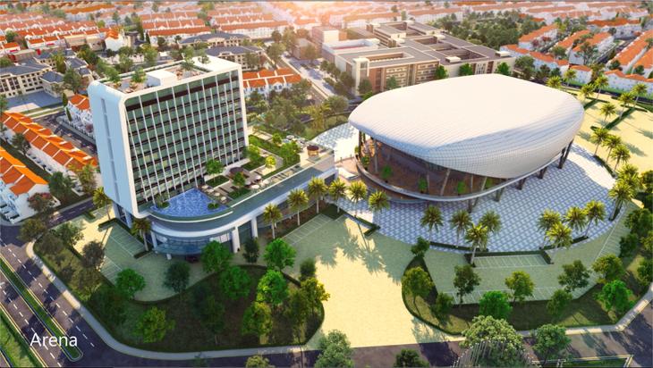 Khách sạn mang thương hiệu Novotel dự kiến được xây dựng tại cụm tiện ích Aqua Arena thuộc phân khu River Park 2 (The Valencia) đô thị Aqua City