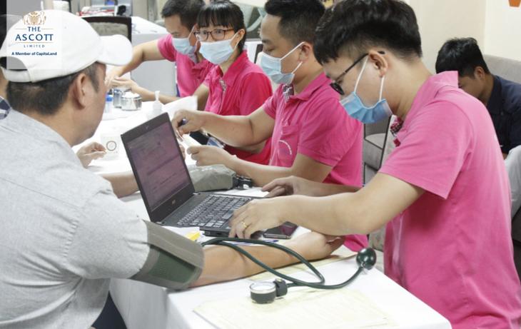 Tập đoàn Ascott Việt Nam tổ chức hiến máu nhân đạo