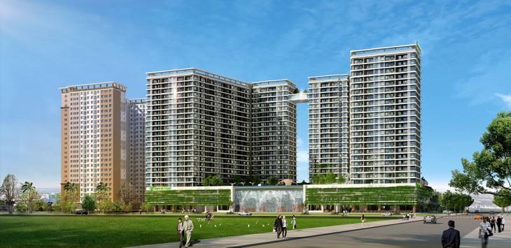 Tập đoàn Xây dựng Hòa Bình là tổng thầu thi công toàn bộ Dự án Chung cư Midori Park the Glory, thời gian thi công trong vòng 25 tháng