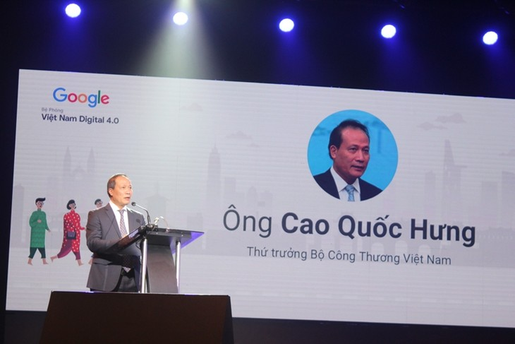 Thứ trưởng Bộ Công Thương Cao Quốc Hưng phát biểu tại Lễ công bố hợp tác chiến lược sáng ngày 15/8, tại Hà Nội (ảnh: BCT)