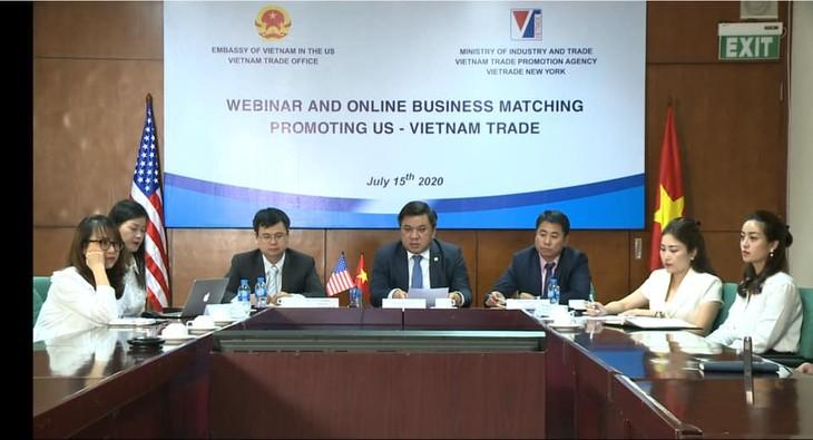 Hội nghị giao thương trực tuyến thúc đẩy thương mại Việt Nam - Hoa Kỳ (ảnh: MK)