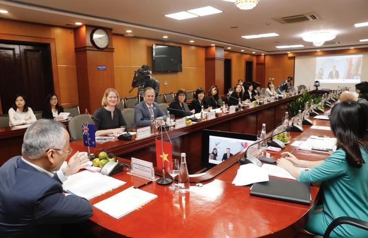 Kỳ họp lần thứ 7 Ủy ban Hỗ hợp kinh tế thương mại Việt Nam và New Zealand tổ chức theo hình thức trực tuyến (ảnh: MK)